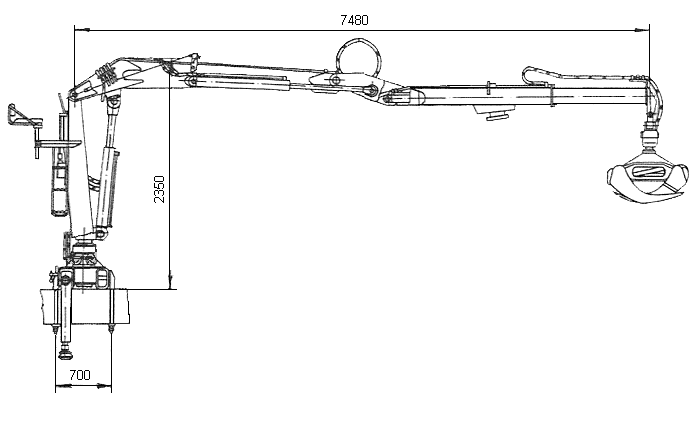 Схема манипулятора ПЛ-70-