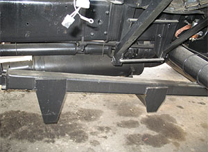Новая схема выпуска выхлопных газов шнекороторного снегоочитстителя
